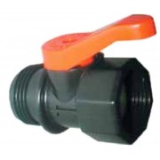 """Plastic Ball Valve 3/4"""" Female Inlet x 3/4"""" Male Outlet"""